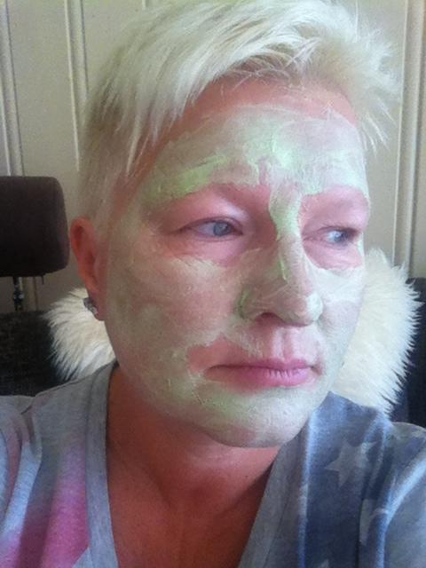 Grønn maske