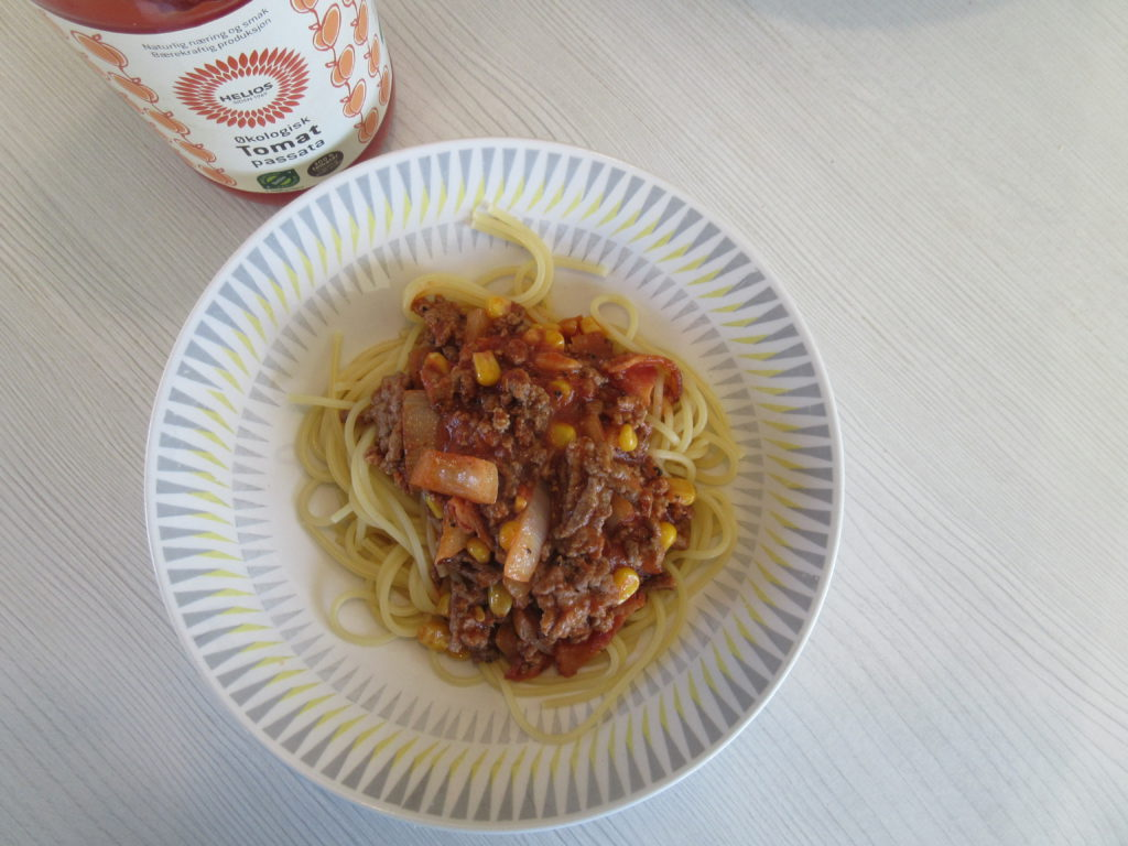 Kjøttdeig og spaghetti